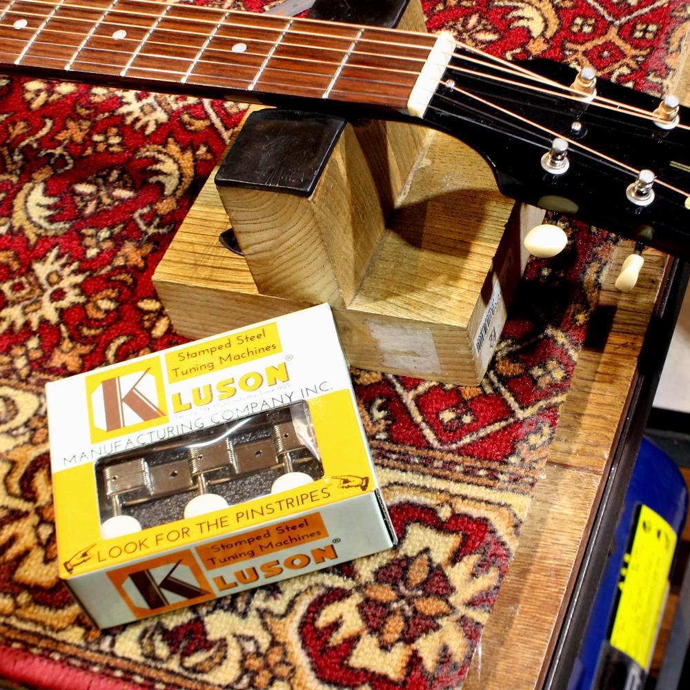 Gibson J-45 Banner Head ペグ交換 (KLUSON 3 per plate / PB / Nickel / No Letter)