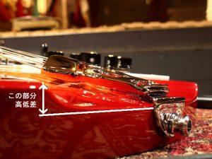 リッケンバッカーのテールピース [Rickenbacker 330]横顔