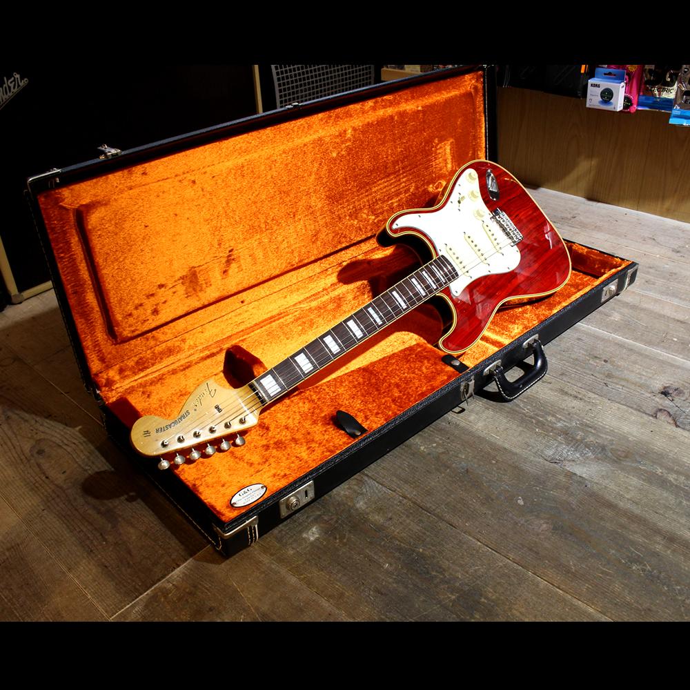 Fender Japan ST68-HO Cherry フェンダージャパン 代理店オーダーモデル 60年代後期のプロトタイプを再現 セミホロウ ゼブラウッド Texas Special搭載 2005年のみ出荷 Stratocaster 18170004